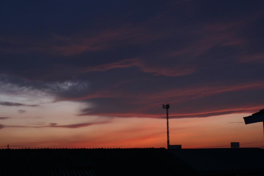 今日の夕焼け