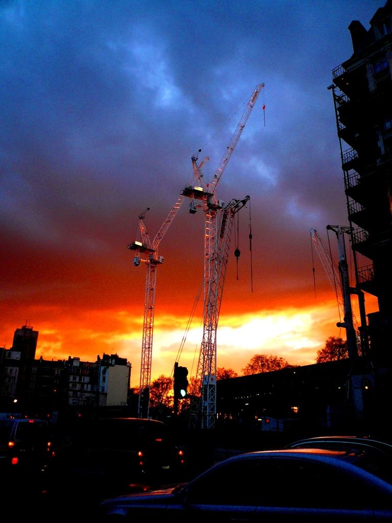 ロンドンの燃える空。