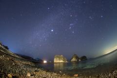 堂ヶ島瀬浜海岸の星空