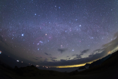 沈む冬の星座たち