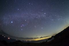 沈みゆく冬の星々