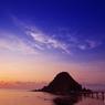 白山島の夕日②