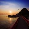 白山島の夕日①