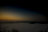 梅渓の夜明け 三日月