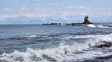 雨晴海岸は今日もイマイチだった