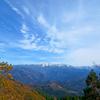 秋晴れの白山