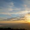 砺波平野の朝景