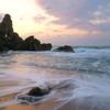 曽々木海岸 窓岩の夕景