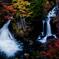 染まりゆく竜頭の滝