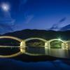 月下の錦帯橋