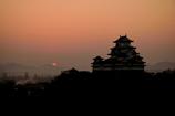 姫路城 日の出