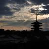 ☆光芒に包まれる八坂の塔