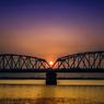 Yoshino River of the sunset