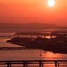 明石大橋と阪神電車