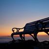 朝日と夕日の見えるベンチ