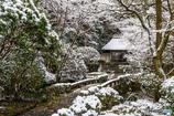 法然院の雪景