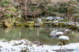 雪の蓮華寺庭園