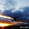 不穏な夕飛行