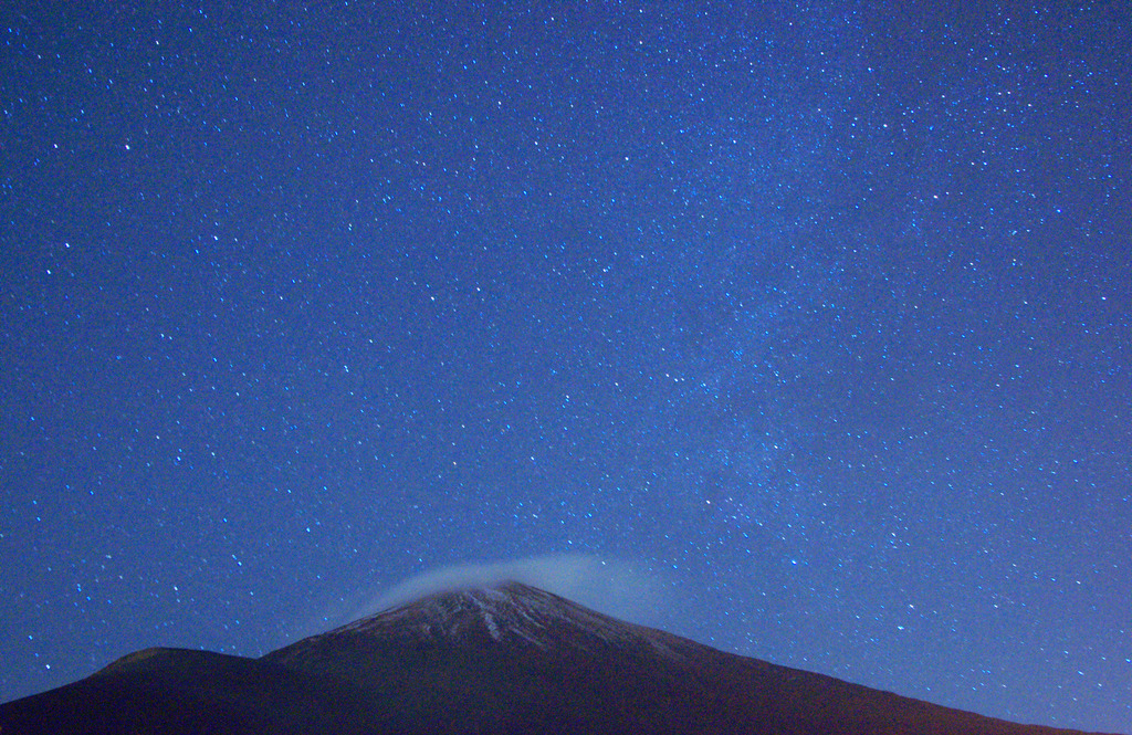 富士山と星空