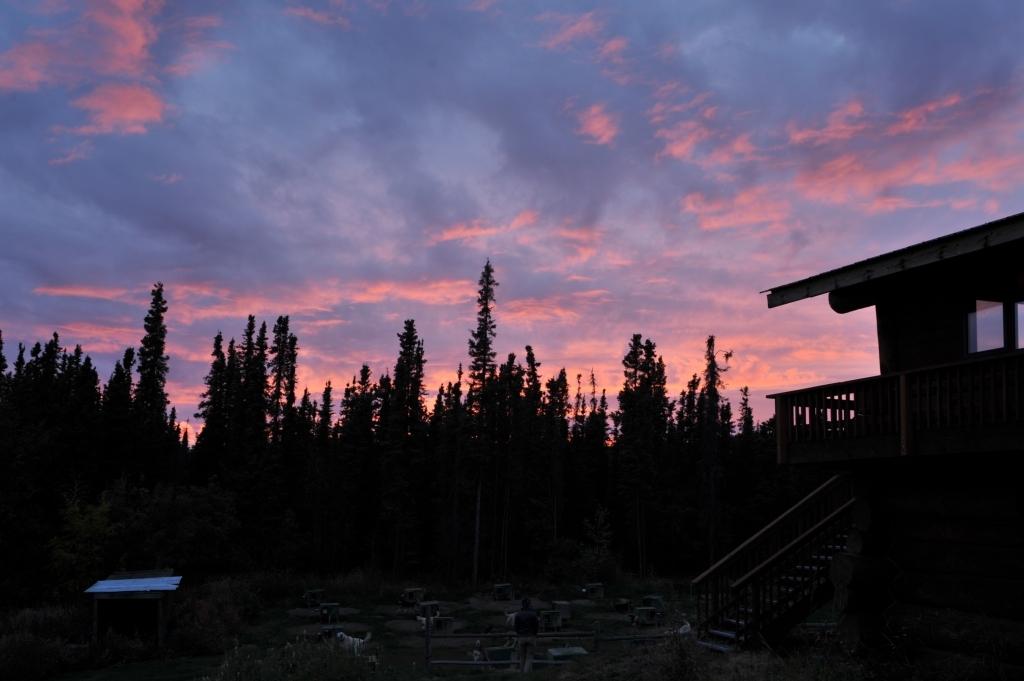 北方の夕焼け