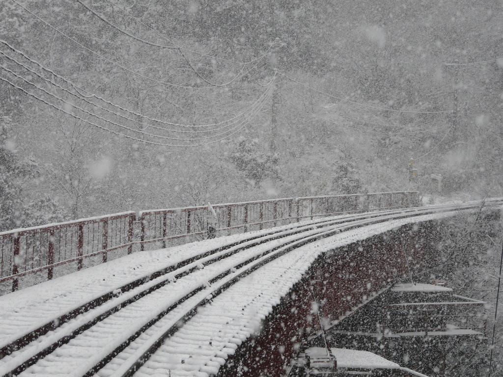 真冬の鉄橋