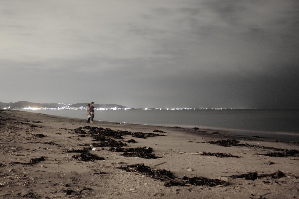 真夜中の湘南海岸