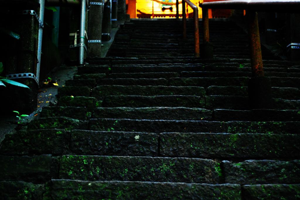 漆黒の階段