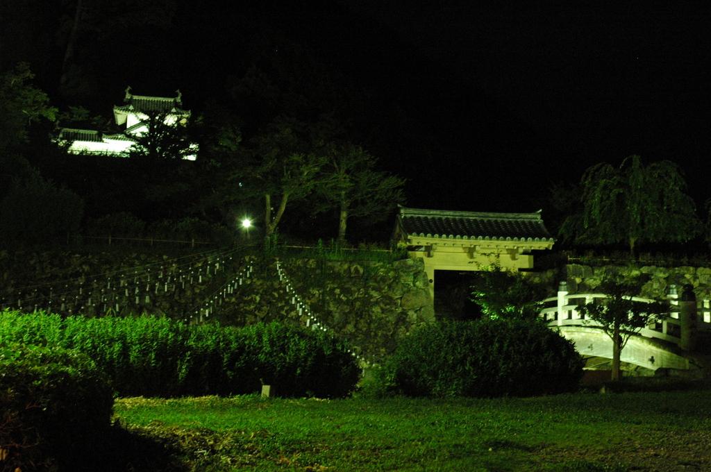 但馬國 出石藩 夏祭り 夜の出石城・登城門②