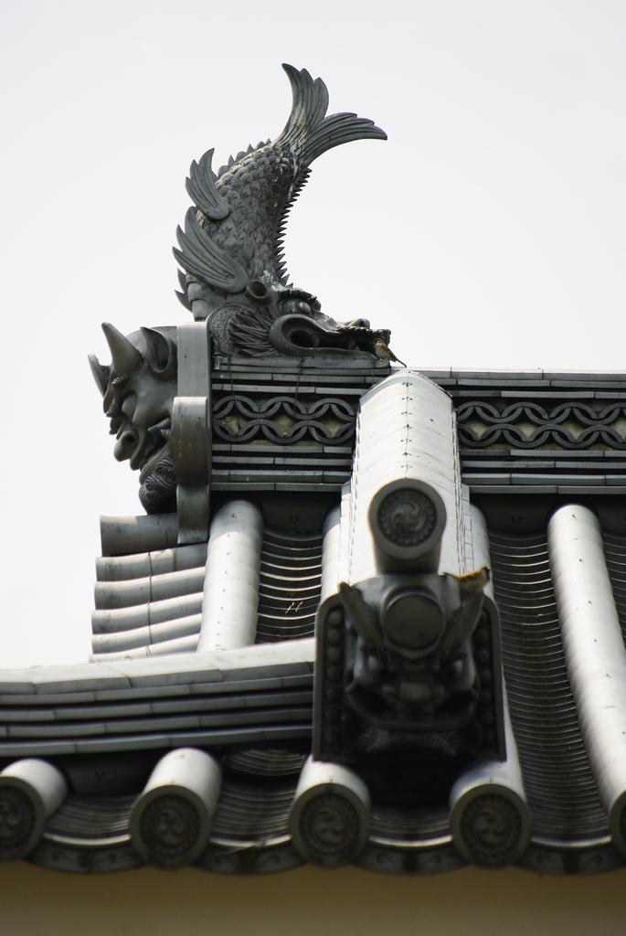 松本城 一の門 鬼瓦 鯱 雀