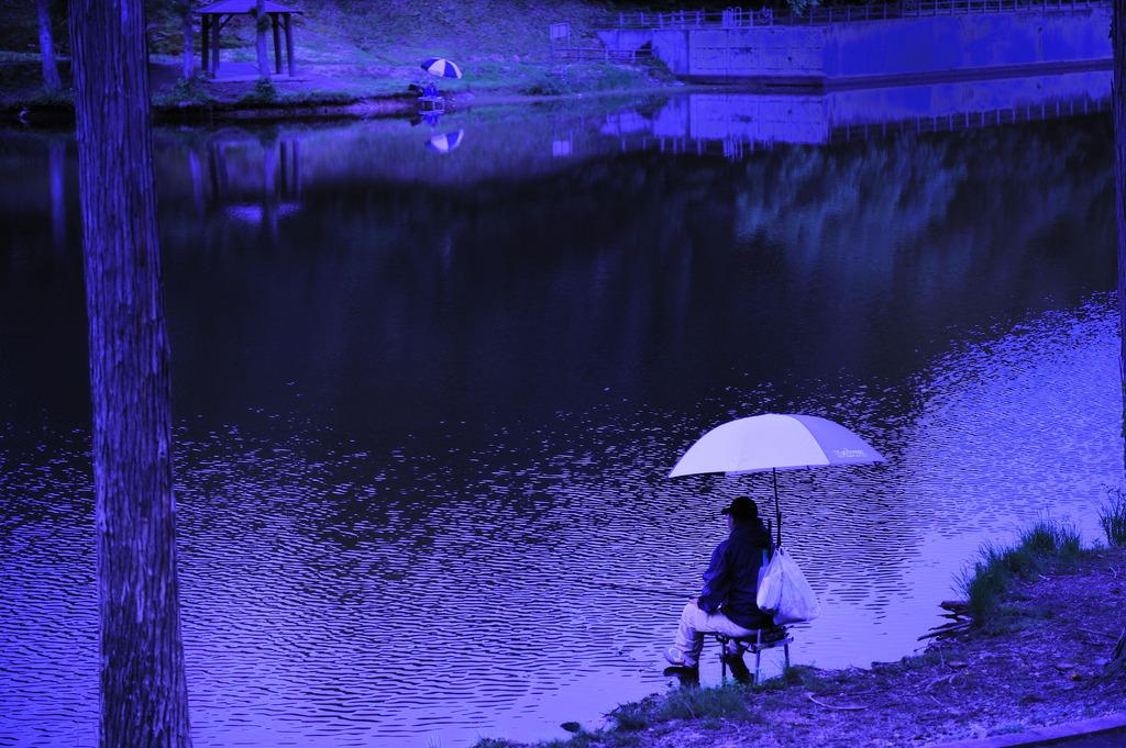 天の川の釣り人