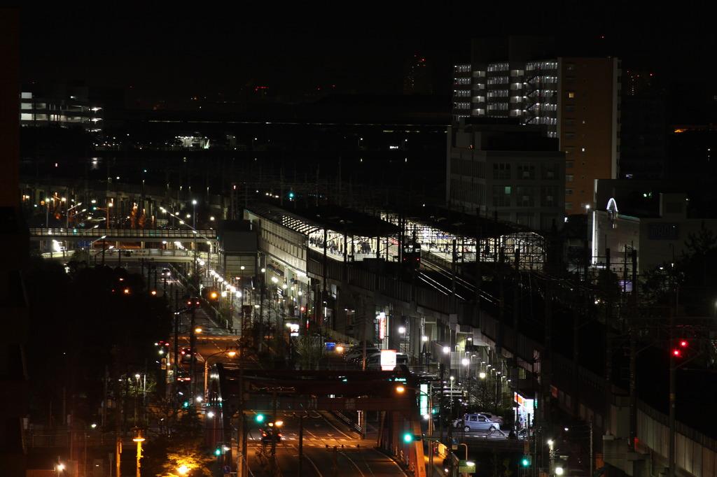 深夜の駅(キャノンLレンズ)