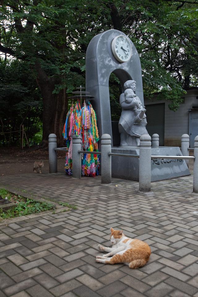 猫と石碑と