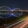新莊新月橋の夜
