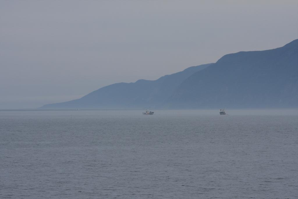 朝もやの北海