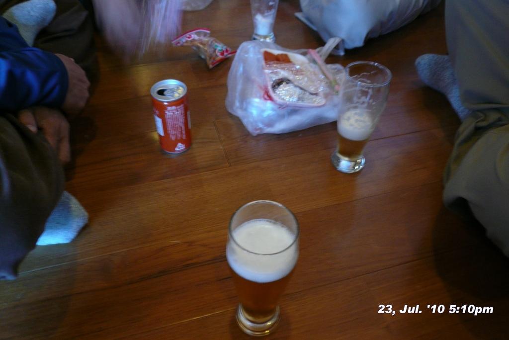 富士山アタック黒鳥隊。2920m東洋館の生ビールの味は日本一。日本一の酒は新潟の