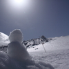 雪だるまの日光浴