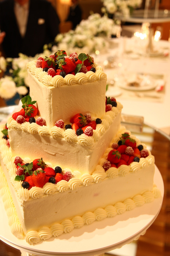 A Image for wedding reception -the cake