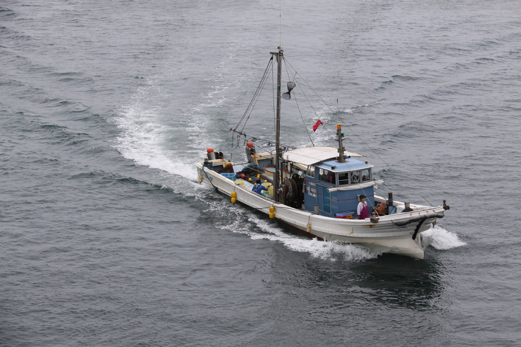由良の漁船