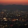 京都。夕焼け。