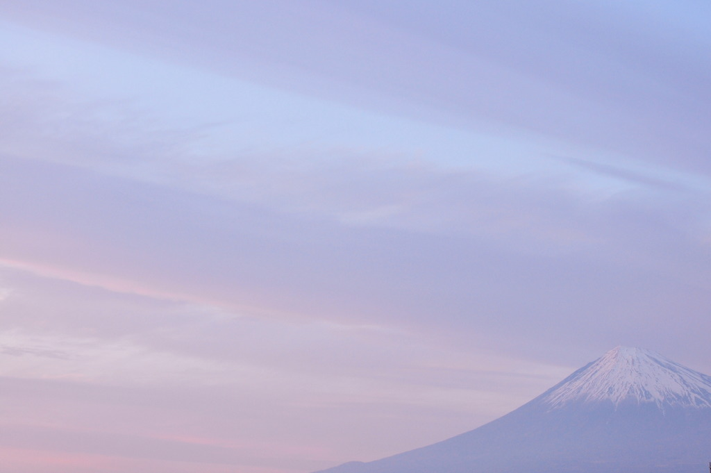 夕焼け雲とMt.Fuji