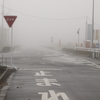 栃木県真岡市午前9時の霧