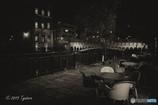 川沿いのカフェにて(※お詫び)