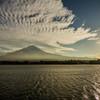 夕景 富士山