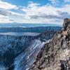 頂から望む摩周湖
