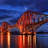 The Forth Bridge with light-up