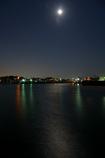 浜名湖 舞阪の夕月