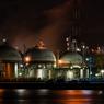 ガスタンク工場夜景2(四日市コンビナートより)
