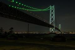 明石海峡大橋のライトアップ~道の駅あわじより~その3(淡路島観光より)