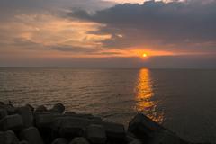 淡路サンセットラインの夕景2(淡路島観光より)