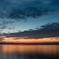 彦根港の夕焼け3(琵琶湖に浮かぶ竹生島より)